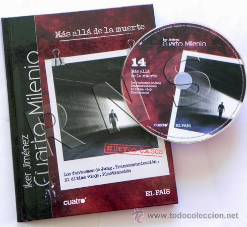LIBRO DVD - MÁS ALLÁ DE LA MUERTE - CUARTO MILENIO IKER JIMÉNEZ -  DOCUMENTAL ESOTERISMO MISTERIO