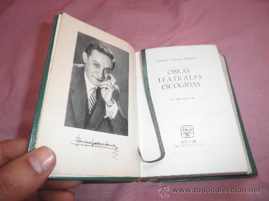 ENRIQUE JARDIEL PONCELA - OBRAS TEATRALES ESCOGIDAS - AGUILAR EN PIEL. (Libros de Segunda Mano (posteriores a 1936) - Literatura - Otros)