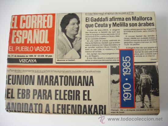 EL CORREO ESPAÑOL-EL PUEBLO VASCO 75 AÑOS INFORMANDO 1910-1985 (Libros de Segunda Mano - Historia - Otros)