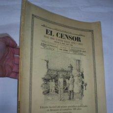 Libros de segunda mano: EL CENSOR FACSIMILAR DEL PRIMER PERIÓDICO PUBLICADO EN BETANZOS Nº 190 DE 1000 GALICIA RM50199. Lote 26990368