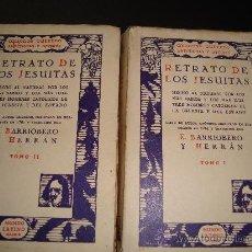 Libros de segunda mano: (33) RETRATO DE LOS JESUITAS -2 TOMOS - HECHO AL NATURAL POR LOS MAS SABIOS Y LOS MAS ILUSTRES HOMBR. Lote 25528848