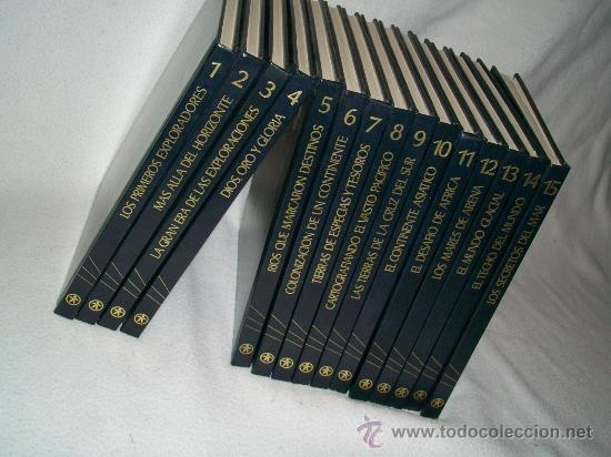 GRANDES DESCUBRIMIENTOS Y EXPLORACIONES - 15 TOMOS - COLECCIÓN COMPLETA (Libros de Segunda Mano - Historia - Otros)