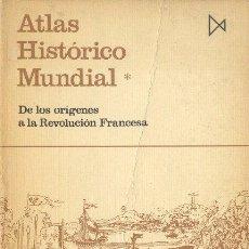 Libros de segunda mano: ATLAS HISTÓRICO MUNDIAL. DE LOS ORÍGENES A LA REVOLUCIÓN FRANCESA HERMANN KINDER Y WERNER HILGEMANN. Lote 26515944