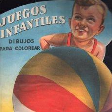 Libros de segunda mano: JUEGOS INFANTILES. DIBUJOS PARA COLOREAR - EDITORIAL ROMA, BARCELONA. . Lote 26657856