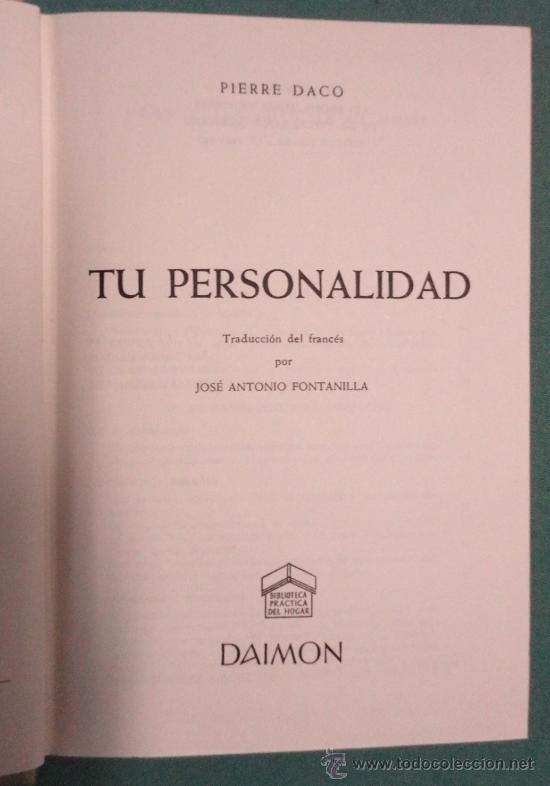 'TU PERSONALIDAD'. AÑO 1961, 495 PÁGINAS. (Libros de Segunda Mano - Pensamiento - Otros)