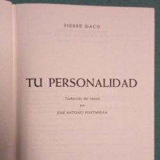 Libros de segunda mano: 'TU PERSONALIDAD'. AÑO 1961, 495 PÁGINAS.. Lote 27053173