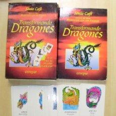 Libros de segunda mano: TRANSFORMANDO DRAGONES = LIBRO Y 64 CARTAS = SONIA CAFE . Lote 27481080