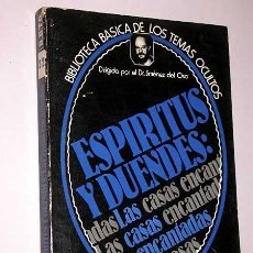 Libros de segunda mano: ESPIRITUS Y DUENDES CASAS ENCANTADAS. JORDÁN PEÑA. TEMAS OCULTOS Nº 22. JIMÉNEZ DEL OSO. UVE 1980. Lote 27557112