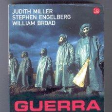 Libros de segunda mano: GUERRA BACTERIOLÓGICA - LAS ARMAS BIOLÓGICAS Y LA AMENAZA TERRORISTA - MILLER ENGELBERG. Lote 27565513