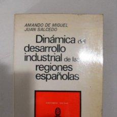 Livres d'occasion: DINÁMICA DEL DESARROLLO INDUSTRIAL DE LAS REGIONES ESPAÑOLAS - AMANDO DE MIGUEL - SALCEDO - 1972. Lote 27653532