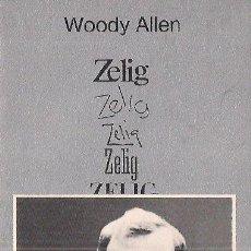 Libros de segunda mano: WOODY ALLEN / ZELIG . TUSQUETS EDITOR. 1ª EDICIÓN. ILUSTRADO.* CUADERNOS ÍNFIMOS . PSICOANALISIS ..*. Lote 27680710