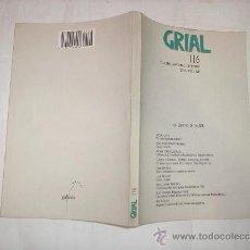 Libros de segunda mano: GRIAL 116.OUTUBRO,NOVEMBRO,DECEMBRO 1992 GALAXIA,1992. AB36566.. Lote 27839161