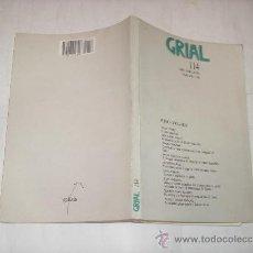 Libros de segunda mano: GRIAL 114.ABRIL,MAIO,XUÑO 1992 GALAXIA,1992 AB36565. . Lote 27839203