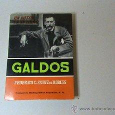 Libros de segunda mano: GALDOS ESTUDIO Y ANTOLOGÍA POR FEDERICO CARLOS SAINZ DE ROBLES. . Lote 28124347