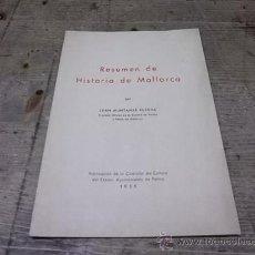 Libros de segunda mano: 1248.-RESUMEN DE HISTORIA DE MALLORCA-JUAN MUNTANER BUJOSA. Lote 28125522