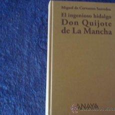 Libros de segunda mano: DON QUIJOTE DE LA MANCHA.ANAYA. MIGUEL DE CERVANTES SAAVEDRA, ANGEL BASANTA.JOSÉ RAMÓN SÁNCHEZ. Lote 28293676