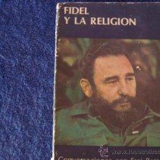 Libros de segunda mano: SOSTIENE PEREIRA .FIDEL Y LA RELIGION. CUBA.. Lote 28395009