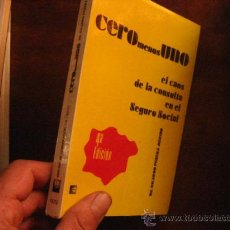 Libros de segunda mano: CERO MENOS UNO,RICARDO PERERA MERINO ( CH11. Lote 28375488