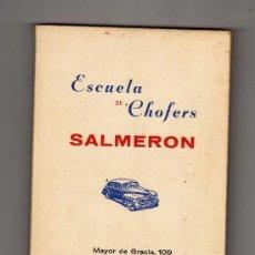 Libros de segunda mano: CARTILLA PARA EL ASPIRANTE A CONDUCTOR DE AUTOMÓVILES · ESCUELA DE CHOFERS SALMERÓN. Lote 28620928