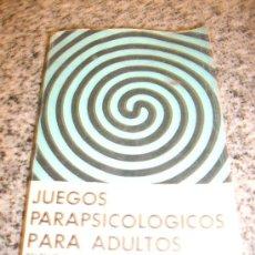 Libros de segunda mano: JUEGOS PARAPSICOLOGICOS PARA ADULTOS (TELEPATIA/ PRECOGNICION/ PSICOQUINESIS), POR DAVID HOY PAIDOS. Lote 28626327