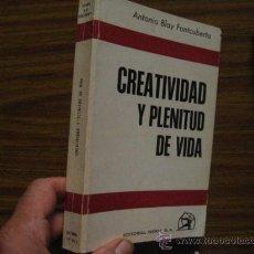 Second hand books - creatividad y plenitud de vida, antonio blay, paraciencias ( v 1 - 28626464