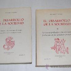 Libros de segunda mano: EL DESARROLLO DE LA SOCIEDAD. I. INTRODUCCIÓN A LAS SOCIEDADES PRECLASISTAS. II.MAURO OLMEDA RM31668. Lote 28825618