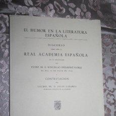 Libros de segunda mano: 1993-'DISCURSO LEIDO ANTE LA R.A.E. EN LA RECEPCION DE WENCESLAO FDEZ.CONTESTACIÓN DE JULIO CASARES'. Lote 28939769