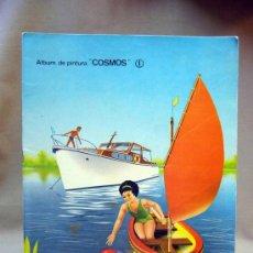 Libros de segunda mano: ALBUM DE PINTURA, COSMOS, Nº 1, , ROMA, 10 PAGINAS, 1966, COLOREADO. Lote 29077796