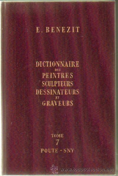 DICTIONNAIRE DES PEINTRES, SCULPTEURS, DESSINATEURS ET GRAVEURS (8 TOMOS) (A-ART-891) (Libros de Segunda Mano - Bellas artes, ocio y coleccionismo - Otros)