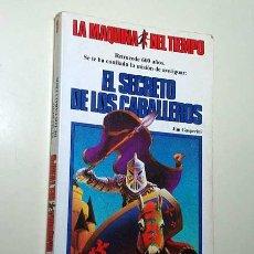 Libros de segunda mano: LA MAQUINA DEL TIEMPO Nº 1. EL SECRETO DE LOS CABALLEROS. GASPERINI, HESCOX. LIBRO JUEGO TIMUN MAS +. Lote 206961991