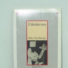 Libros de segunda mano: EL LABERINTO VASCO. JULIO CARO BAROJA. BIBLIOTECA DE LA HISTORIA DE ESPAÑA.. Lote 29319261