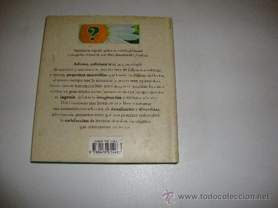 Libros de segunda mano: ADIVINA ,ADIVINANZA Seleccion de Phil Cousineau - Foto 2 - 29374102