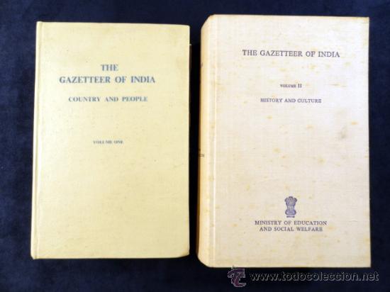 THE GAZETTEER OF INDIA, VOLUMES 1 Y 2. 1973. TEXTO EN INGLÉS (Libros de Segunda Mano - Historia - Otros)