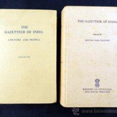 Libros de segunda mano: THE GAZETTEER OF INDIA, VOLUMES 1 Y 2. 1973. TEXTO EN INGLÉS. Lote 29426445