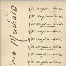 Libros de segunda mano: ANTONIO MACHADO. LOS COMPLEMENTARIOS. 2 VOLS. MADRID, 1971.. Lote 29411015