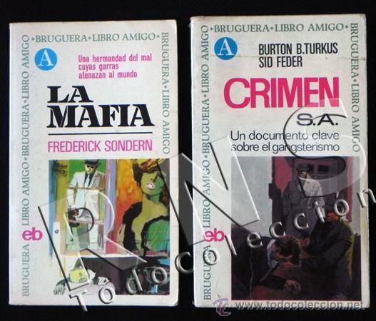 MAFIA / CRIMEN S.A - LOTE DE LIBROS BRUGUERA - HISTORIA GÁNTERES EEUU ASESINOS MAFIOSOS LIBRO AMIGO (Libros de Segunda Mano - Historia - Otros)
