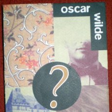 Libros de segunda mano: EL CRIMEN DE LORD ARTHUR SAVILE;OSCAR WILDE;AGUILAR 1995. Lote 29718179
