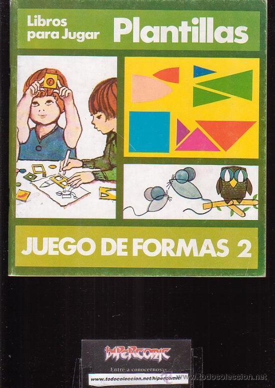 libros para jugar, juego de formas 2 , plantill - Comprar en ...