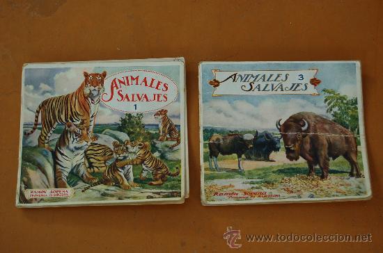 PAREJA DE LIBROS ALBUMES DE ANIMALES ED. RAMON SOPERA. NUMEROS 1 Y 3. (Libros de Segunda Mano - Literatura Infantil y Juvenil - Otros)