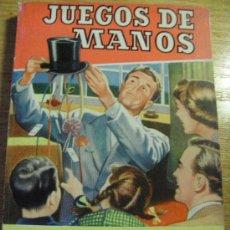 Libros de segunda mano: JUEGOS DE MANOS - COL. PRACTICA - BRUGUERA, 1962. Lote 29953955