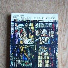 Libros de segunda mano: HISTORIA DEL PUEBLO VASCO. VOL. 1. ZABALA (FEDERICO DE). Lote 30177340