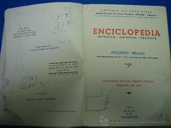 Libros de segunda mano: Enciclopedia Alvarez 2º grado 1965 - Foto 3 - 30324869
