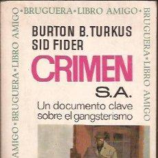 Libros de segunda mano: LIBRO-CRIMEN S.A.-TURKUS/FIDER-BRUGUERA-1966-GANGSTERS Y MAFIA. Lote 30303453