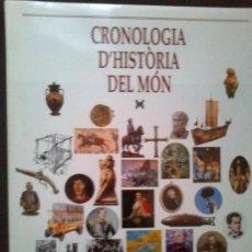 Libros de segunda mano: CRONOLOGIA D'HISTORIA DEL MON / DIR. J. MESTRE. BCN : ED.62, 1999. 30X24CM. 281 P.. Lote 30455337