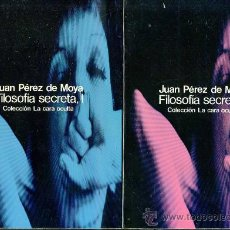 Libros de segunda mano: JUAN PÉREZ DE MOYA : FILOSOFÍA SECRETA - DOS TOMOS (GLOSA, 1977). Lote 30521554