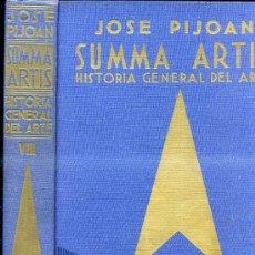 Libros de segunda mano: SUMMA ARTIS VIII : JOSE PIJOÁN - ARTE BARBARO Y PRERROMÁNICO SIGLO IV HASTA EL AÑO MIL (1966) . Lote 30553091