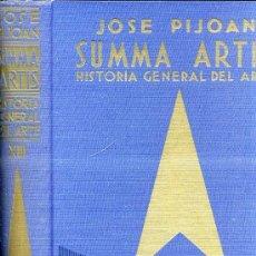 Libros de segunda mano: SUMMA ARTIS XIII : JOSE PIJOÁN - ARTE DEL PERÍODO HUMANÍSTICO TRECENTO Y CUATROCENTO (1966) . Lote 30553163