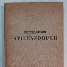 Libros de segunda mano: STILHANDBUCH RETTELBUSCH - 1960 - MANUAL DE ESTILOS DE MUEBLES. Lote 30564407