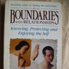 Libros de segunda mano: BOUNDARIES AND RELATIONSHIPS, CHARLES L. WHITFIELD, M.D. (EN INGLES) . Lote 30569883