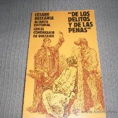 Libros de segunda mano: DE LOS DELITOS Y DE LAS PENAS . CESARE BECCARIA . ALIANZA EDITORIAL .. Lote 30643526